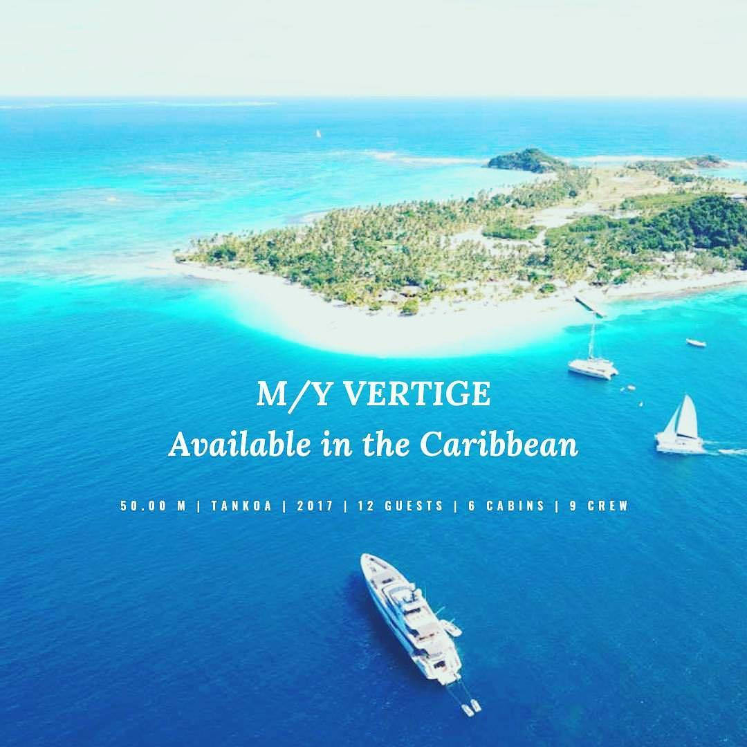 | M/Y VERTIGE | Available in the Caribbean this winter