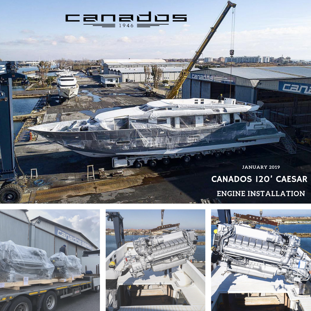| Canados 120' Caesar | Engine Installation